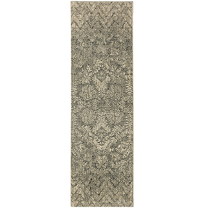 Touchstone Le Jardin Natural Willow Gray Runner: 2 Ft. 4 In. x 7 Ft. 10 In.