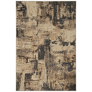 Elements Gray Beige Rectangular: 5 Ft. 3 In. x 7 Ft. 10 In. Rug