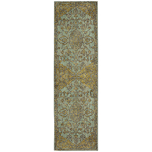 Cosmopolitan Jade Multicolor Runner: 2 Ft. 4 In. x 7 Ft. 10 In.