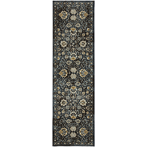Touchstone Deveron Blue Teal Multicolor Runner: 2 Ft. 4 In. x 7 Ft. 10 In.