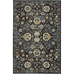 Touchstone Blue Teal Multicolor Rectangular: 9 Ft. 6 In. x 12 Ft. 11 In. Rug