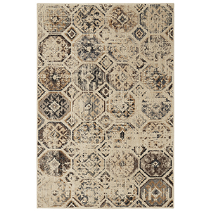 Elements Beige Tan Rectangular: 5 Ft. 3 In. x 7 Ft. 10 In. Rug