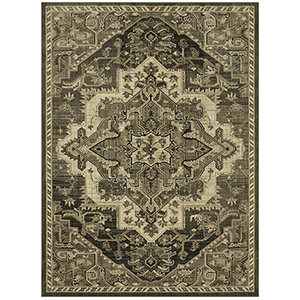 Elements Augustine Onyx Gun Metal Rectangular: 5 Ft. 3 In. x 7 Ft. 10 In. Rug