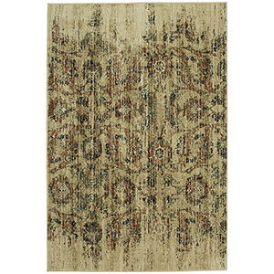 Spice Market Gold Cream Rectangular: 5 Ft. 3 In. x 7 Ft. 10 In. Rug