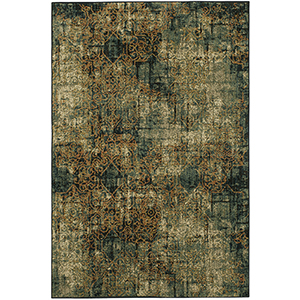 Spice Market Luciano Aquamarine Multicolor Rectangular: 8 Ft. x 11 Ft. Rug