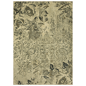 Touchstone Gray Bone White Rectangular: 5 Ft. 3 In. x 7 Ft. 10 In. Rug