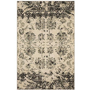 Touchstone Charcoal Rectangular: 5 Ft. 3 In. x 7 Ft. 10 In. Rug