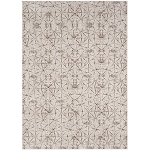 Enigma Quandry Brushed Gold Antique White Rectangular: 5 Ft. 3 In. x 7 Ft. 10 In. Rug
