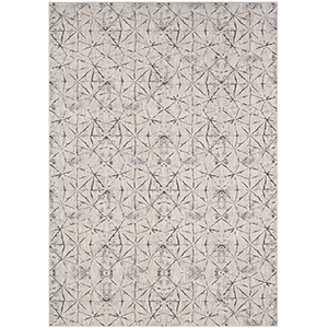 Enigma Smokey Gray Antique White Rectangular: 8 Ft. x 11 Ft. Rug