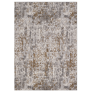Enigma Metamorphic Brushed Gold Antique White Rectangular: 5 Ft. 3 In. x 7 Ft. 10 In. Rug