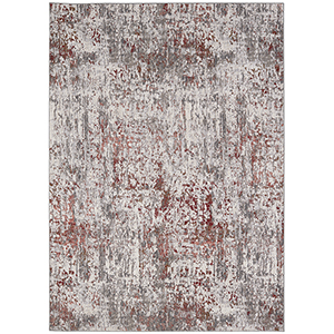 Enigma Clay Antique White Rectangular: 5 Ft. 3 In. x 7 Ft. 10 In. Rug