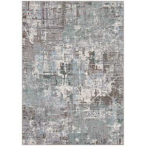 Enigma Jade Antique White Rectangular: 5 Ft. 3 In. x 7 Ft. 10 In. Rug