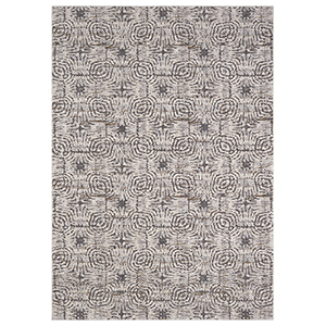 Enigma Vibration Dove Antique White Rectangular: 5 Ft. 3 In. x 7 Ft. 10 In. Rug