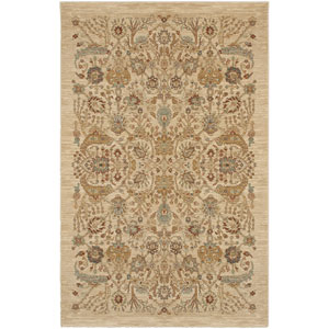 Shapura Bel Canto Medium Beige Rectangular: 4 Ft 3 In x 6 Ft Rug