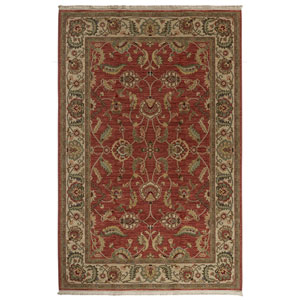 Ashara Fire Engine Red Rectangular: 5 Ft. 9 x 9 Ft. Rug
