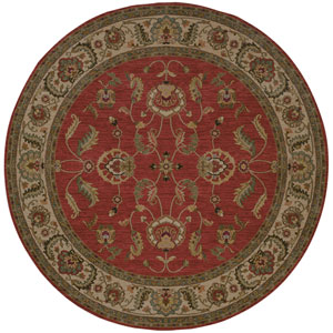 Ashara Agra Fire Engine Red Round: 8 Ft 8 In Rug