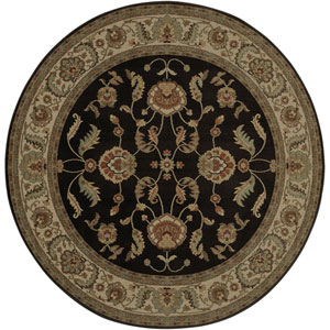 Ashara Agra Black Round: 8 Ft 8 In Rug