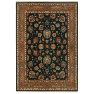 Sovereign Sultana Navy Rectangular: 4 Ft 3 In x 6 Ft Rug