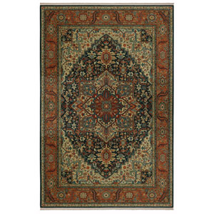 Sovereign Maharajah Navy Rectangular: 4 Ft 3 In x 6 Ft Rug