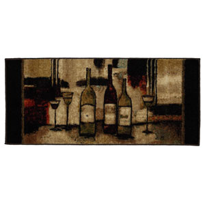 New Wave Wine And Glasses Rectangular: 1 Ft. 8 In. x 3 Ft. 9 In. Rug