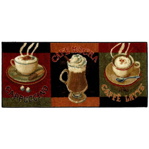 New Wave Kitchen Caffe Latte Primary Rectangular: 1 Ft. 8 In. x 3 Ft. 9 In. Rug