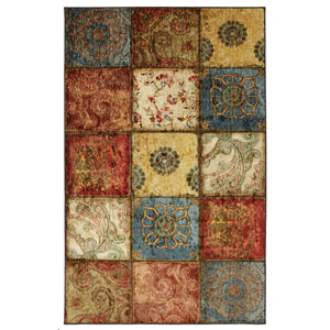 Artifact Panel Multicolor Rectangular: 8 Ft x 10 Ft Rug