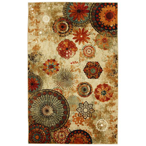 Caravan Medallion Multicolor Rectangular: 2 Ft. 6-Inch x 3 Ft. 10-Inch Rug