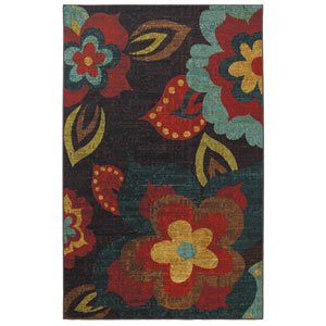 Strata Multi-Colored Rectangular: 5 Ft. x 8 Ft. Rug