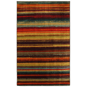 New Wave Multi-Colored Rectangular: 5 Ft. x 8 Ft. Rug