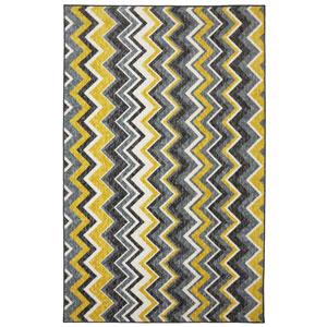 New Wave Yellow Rectangular: 5 Ft. x 8 Ft. Rug