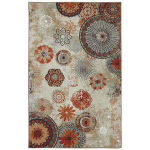 Alexa Medallion Multicolor Rectangular: 7 Ft. 6-Inch x 10 Ft. Rug