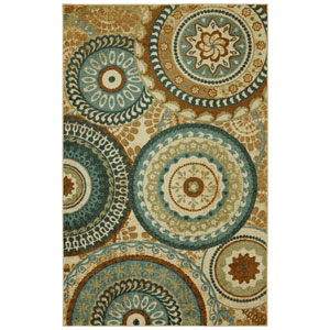 Forest Suzani Multi-Colored Rectangular: 5 Ft. x 8 Ft. Rug