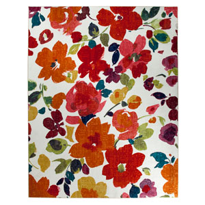 Bright Floral Toss Multicolor Rectangular: 7 Ft. 6-Inch x 10 Ft. Rug