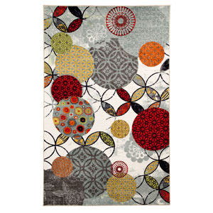 Give and Take Kaleidoscope Rectangular: 5 Ft. x 8 Ft. Rug