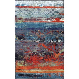 Eroded Color Multi-Colored Rectangular: 5 Ft. x 8 Ft. Rug