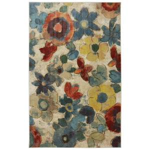 Wildflower Light Multicolor Rectangular: 8 Ft. x 10 Ft. Rug