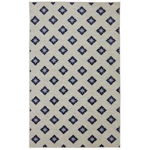 Button Fleur Navy Rectangular: 7 Ft. 6-Inch x 10 Ft. Rug