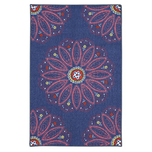 Lacee Navy Rectangular: 2 Ft. 6-Inch x 3 Ft. 10-Inch Rug