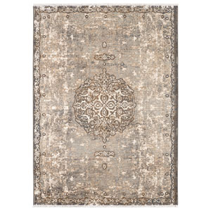 Titanium Floret Ivory by Patina Vie Rectangular: 3 Ft. 6 In. x 5 Ft. 6 In. Rug