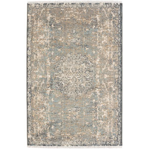 Titanium Floret Seagrass by Patina Vie Rectangular: 3 Ft. 6 In. x 5 Ft. 6 In. Rug
