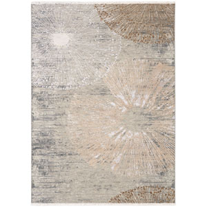 Titanium Serefe by Virginia Langley Rectangular: 3 Ft. 6 In. x 5 Ft. 6 In. Rug