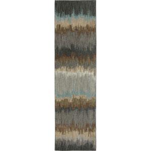 Euphoria Cashel Abyss Blue Runner: 2 Ft. 4 In. x 7 Ft. 10 In. Rug