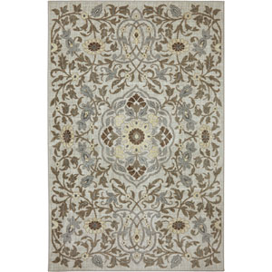 Euphoria Edenderry Cream Rectangular: 3 Ft 6 In x 5 Ft 6 In Rug