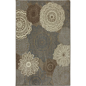 Euphoria Mossat Brown Rectangular: 3 Ft 6 In x 5 Ft 6 In Rug