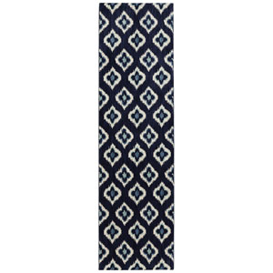 Pacifica Briarcliff Indigo Runner: 2 Ft. 4 In. x 7 Ft. 10 In. Rug