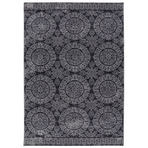 Pacifica Leawood Black Rectangular: 3 Ft 5 In x 5 Ft 5 In Rug