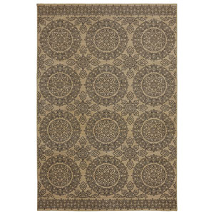 Pacifica Leawood Tan Rectangular: 3 Ft 5 In x 5 Ft 5 In Rug