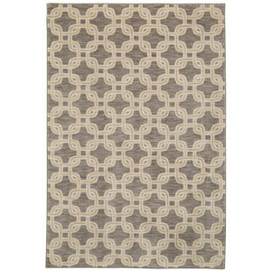 Pacifica Talbot Gray Rectangular: 3 Ft 5 In x 5 Ft 5 In Rug