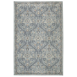 Euphoria Galway Willow Grey Rectangular: 3 Ft 6 In x 5 Ft 6 In Rug