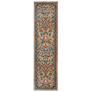 Spice Market Tigris Aquamarine Runner: 2 Ft. 4 In. x 7 Ft. 10 In. Rug